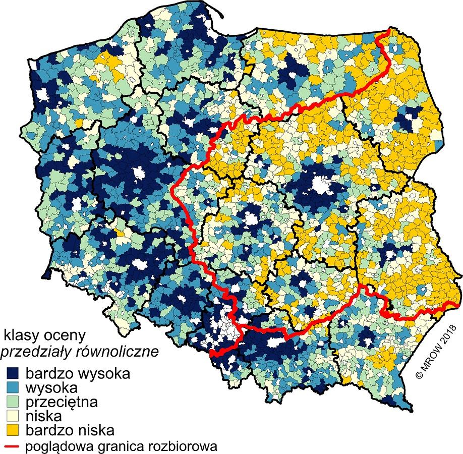 Poziom rozwoju społeczno-gospodarczego obszarów wiejskich